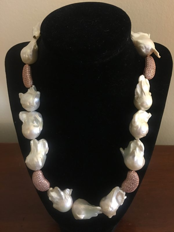 Large White Baroque Freshwater Pearls