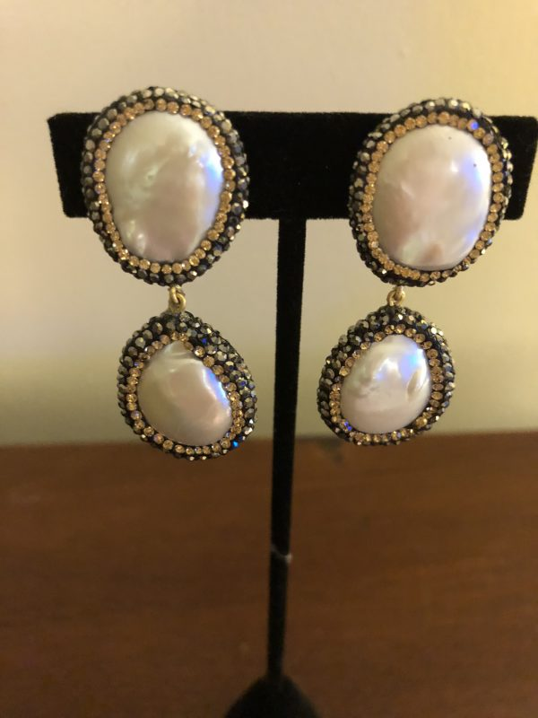 2 piece dangle earring