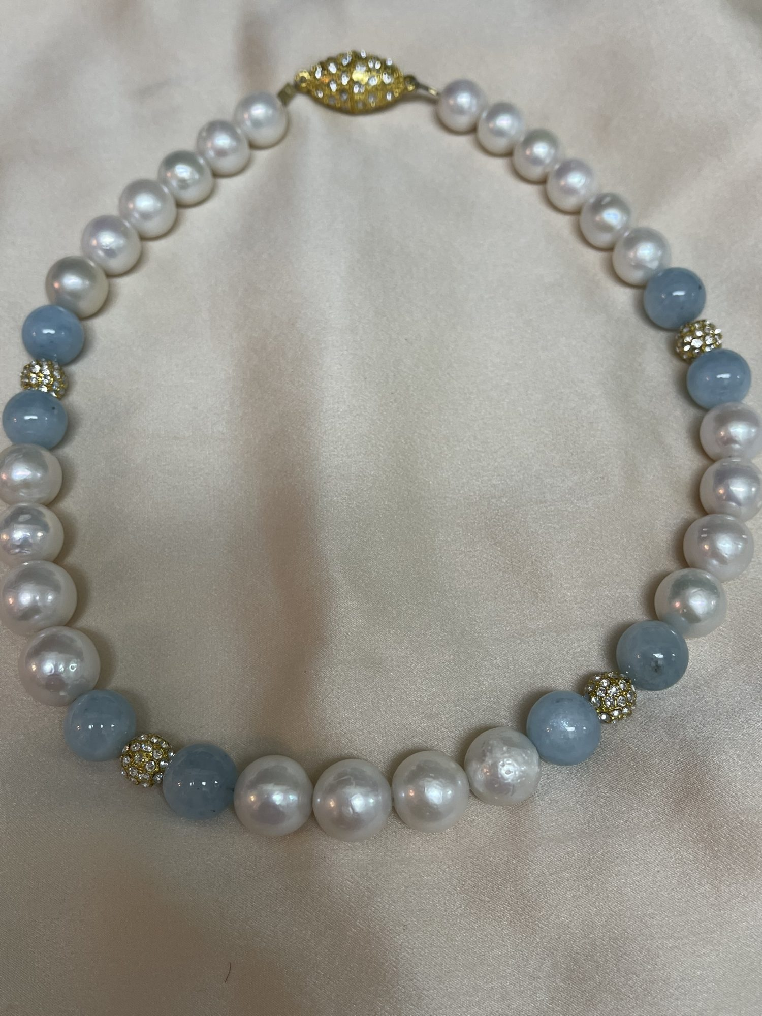 White Baroque Freshwater Pearl Necklace