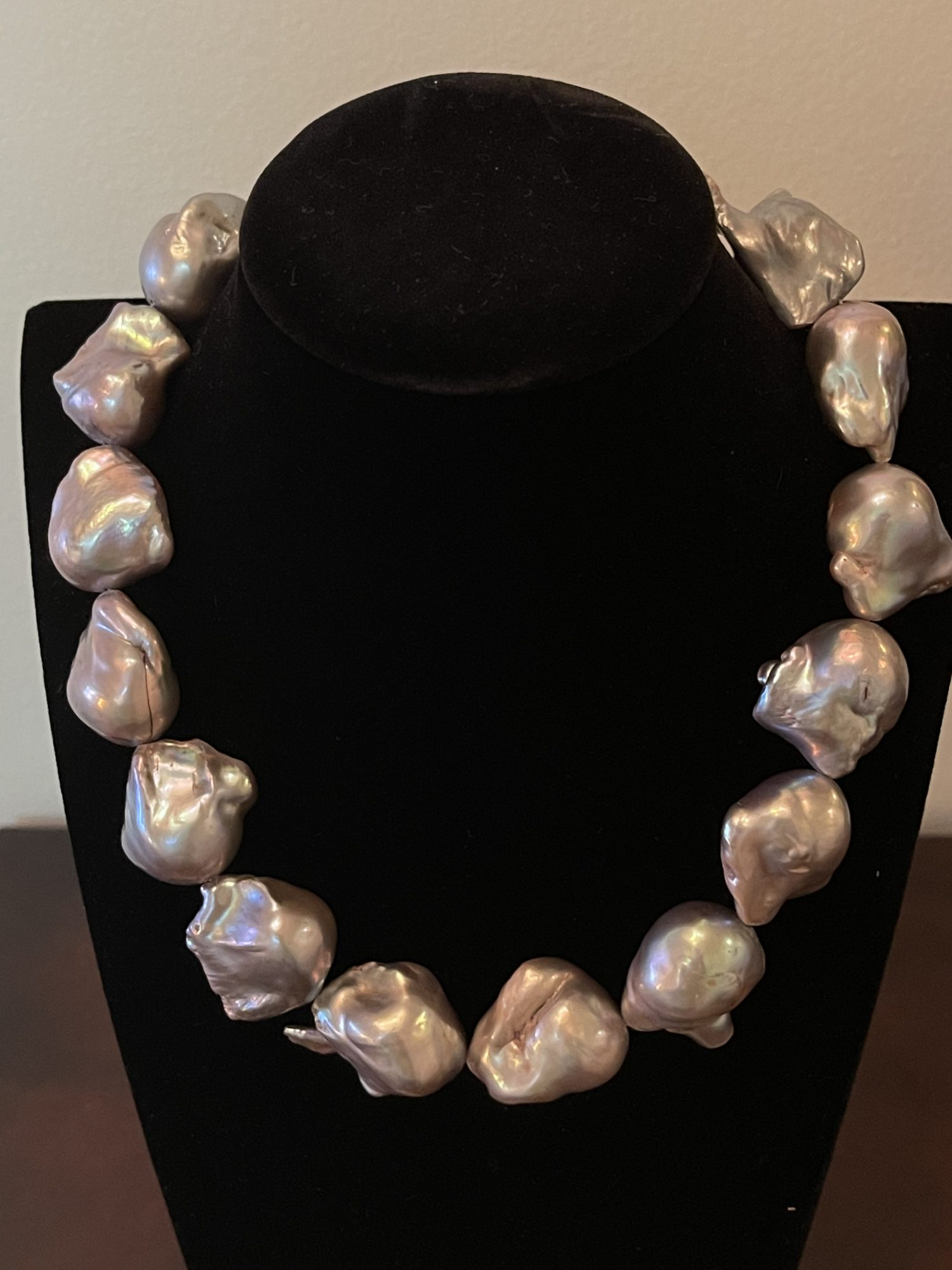 Gray Baroque Freshwater Pearl Necklace